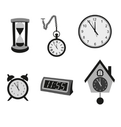 Different kinds of clocks vector