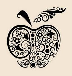 Apple ornament vector image
