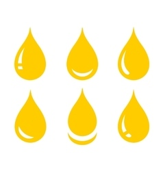 Set of glossy oil drop vector