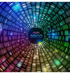 Abstract disco neon background vector image