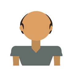 Adult male bald vector