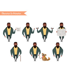 African american boy character for your scenes vector