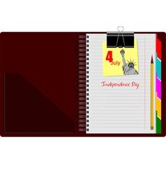 al 0808 notebook 01 vector image vector image