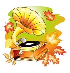 Autumn music vector image vector image