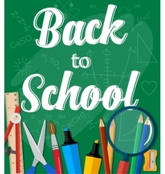 Back to School Title Words vector image