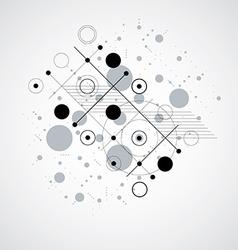 Bauhaus art composition decorative modular black vector