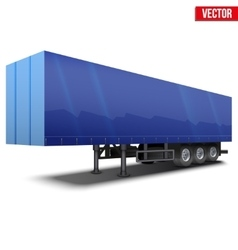 Blank blue parked semi trailer vector image
