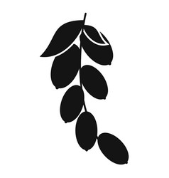 Branch of cornel or dogwood berries icon vector