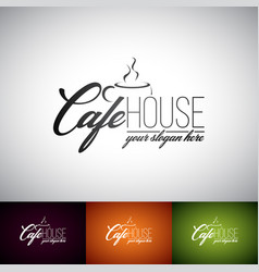 Coffe cup logo design template set of cofe shop vector