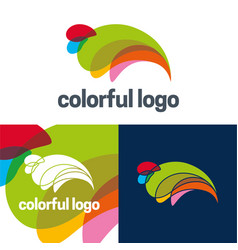 Colorful logo and icon vector