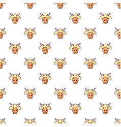 Cow head pattern seamless vector