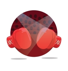 fight boxing gloves flat icon punch vector image