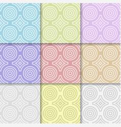 Geometric round shape seamless pattern vector