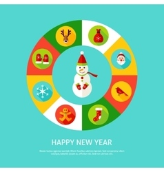 Happy new year infographic vector