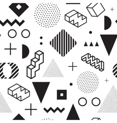 Memphis background seamless abstract pattern vector
