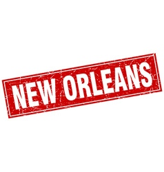New orleans red square grunge vintage isolated vector