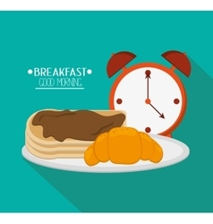 Pancakes and breakfast design vector image