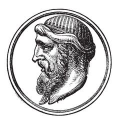 Plato vintage vector