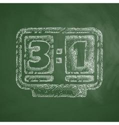 score board icon vector image