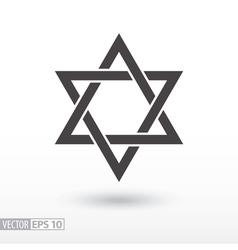 Star of David Star flat icon Sign Star vector image vector image