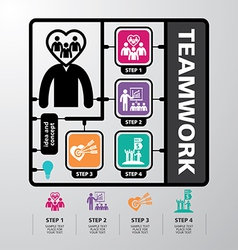 template modern info-graphic design for business vector image vector image