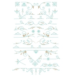 Vintage ornaments design elements vector
