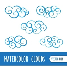Watercolor clouds vector image vector image