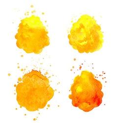 Watercolor splashes vector image vector image