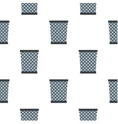 Wire metal bin pattern seamless vector