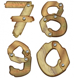 wooden numbers vector image vector image