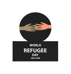 World refugee day 20 june vector