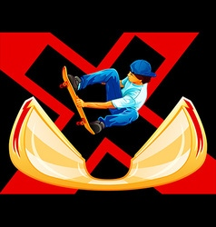 X-games skateboarding vector