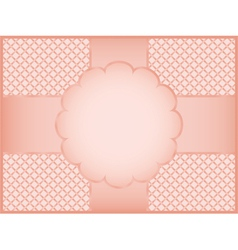 Pink gift wrapper vector