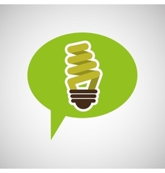 Symbol bulb environment graphic vector