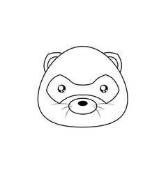 opossum drawing face vector image