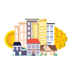 Investment in real estate concept in flat design vector