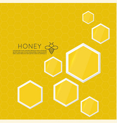 Icon honeycomb vector