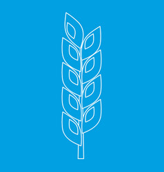 Grain spike icon outline style vector