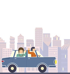 Family in road trip vector