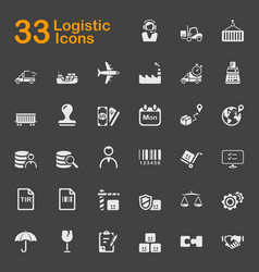 33 logistic icons vector