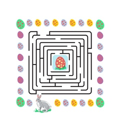 easter maze with rabbit vector image
