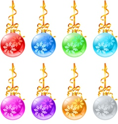 New christmas decorations vector