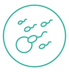Fertilization line icon vector image