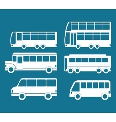 Bus icon set design vector