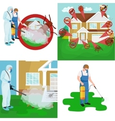 Pest control concept with insects exterminator vector