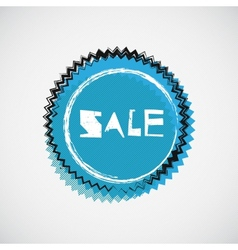 Grunge cyan sale badge vector image