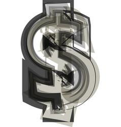 Abstract dollar symbol vector