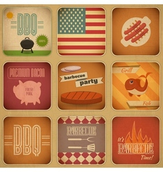 Barbecue menu vector