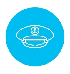 Captain peaked cap line icon vector image