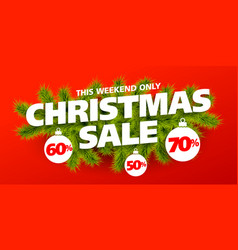 christmas sale banner vector image